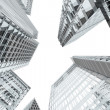 Skyscrapers and office buildings perspective — Stock Photo
