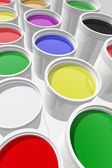 Latas de pintura — Foto de Stock