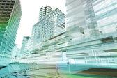 Transporte de datos en el futuro la ciudad — Foto de Stock