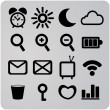 Vector de stock : Set of 16 web icons