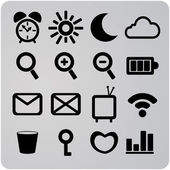 Set of 16 web icons — Stock Vector