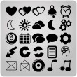 Vector de stock : Set of 25 web icons