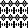 Black and white geometric seamless pattern — Stock Vector