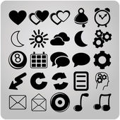 Set of 25 web icons — Stock Vector