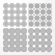 Set monochrome geometrical seamless patterns. — Stock Vector #31855707