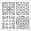 Set monochrome geometrical seamless patterns. — Stock Vector #31857509