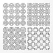 Set monochrome geometrical seamless patterns. — Stock Vector