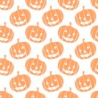 Seamless vector halloween pattern with pumpkins — Stock Vector #32419167