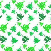 Seamless vector pattern of christmas tree — Stock Vector