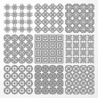 Set monochrome geometrical seamless patterns. — Stock Vector