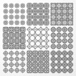 Set monochrome geometrical seamless patterns. — Stock Vector #33222523