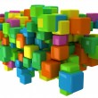 Abstract 3D background with colored cubes — Stock Photo #33591245