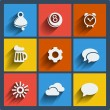 Set of 9 web and mobile icons. Vector. — Stock Vector #34212867
