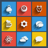 Set of 9 web and mobile icons. Vector. — Stock Vector