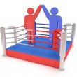 Two men on boxing ring. High resolution 3d render. — Stock Photo #35036355