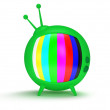 Funny TV with antenna. 3d render. Isolated. — Stock Photo