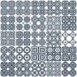 Set of 25 geometrical seamless patterns. Vector. — Stock Vector