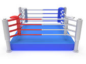 Ring de boxeo. render 3d de alta resolución. — Foto de Stock