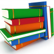 Stack of Books on white background. 3d render — Stock Photo