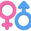 3d illustration of Male and female signs. — Stock Photo #37686243