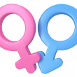 3d illustration of Male and female signs. — Stock Photo #38572957