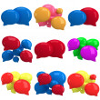 Set of 3d blank speech bubbles — Stock Photo #39375055