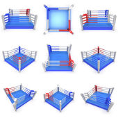 Set of boxing ring. High resolution 3d render. — Stock Photo