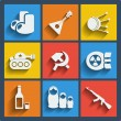 Set of 9 russiweb and mobile icons. Vector. — Stock Vector #41352417