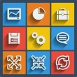 Set of 9 web and mobile icons. Vector. — Stock Vector #41352681