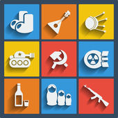 Set of 9 russia web and mobile icons. Vector. — Stok Vektör