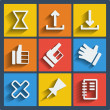 Set of 9 web and mobile icons. Vector. — 图库矢量图片 #42801785