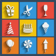 Set of 9 web and mobile icons. Vector. — 图库矢量图片