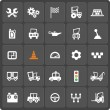 Постер, плакат: Set of 25 cars web and mobile icons Vector