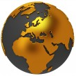Earth planet globe. 3D render. Europe view. — Stock Photo #45632953