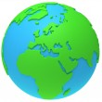 Earth planet globe. 3D render. Europe view. — Foto de Stock