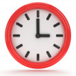 Round office clock shows three o'clock — Stock Photo #46963397