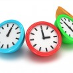 Four Round office clocks — Stock Photo #47221817