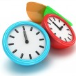 Four Round office clocks — Stock Photo #47221823
