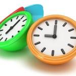 Four Round office clocks — Stock Photo #47221831