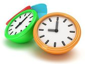 Four Round office clocks — Fotografia Stock