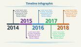 Timeline Web Element Template. Vector. — Stock Vector
