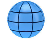 Stylized Earth planet globe 3d icon — Stockfoto
