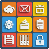 Set of 9 files web and mobile icons. Vector. — Stockvector