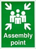 Assembly point — Stock Photo