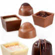 Chocolate  Candy Assortment on white background — Foto Stock