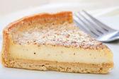 Custard tart slice on a plate. — Stock Photo