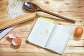 Recipe book. — Stock Photo
