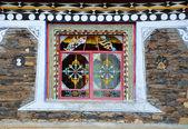 Tybet kolor okna — Zdjęcie stockowe