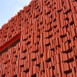 Building red abstract — Stock Photo