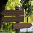 Stock Photo: Wooden signs